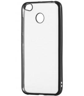 """Juodas silikoninis dėklas Xiaomi Redmi 4X telefonui """"Glossy"""""""