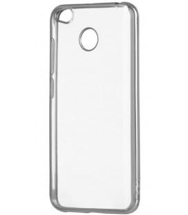 """Sidabrinės spalvos silikoninis dėklas Xiaomi Redmi 4X telefonui """"Glossy"""""""
