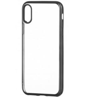 """Juodas silikoninis dėklas Apple iPhone X telefonui """"Glossy"""""""