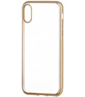 """Auksinės spalvos silikoninis dėklas Apple iPhone X telefonui """"Glossy"""""""