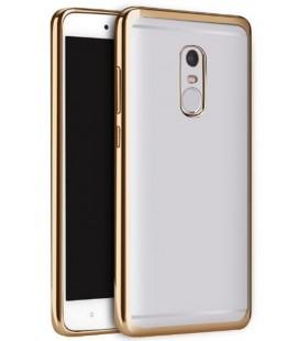 """Auksinės spalvos silikoninis dėklas Xiaomi Redmi Note 4/4x telefonui """"Glossy"""""""