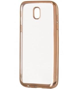 """Auksinės spalvos silikoninis dėklas Samsung Galaxy J5 2017 telefonui """"Glossy"""""""
