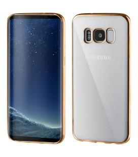 """Auksinės spalvos silikoninis dėklas Samsung Galaxy S8 telefonui """"Glossy"""""""