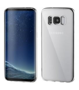 """Sidabrinės spalvos silikoninis dėklas Samsung Galaxy S8 telefonui """"Glossy"""""""