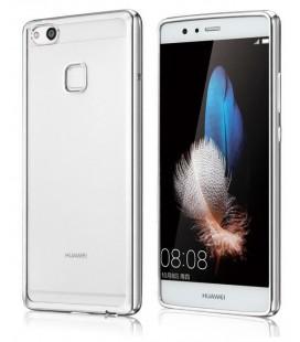 """Sidabrinės spalvos silikoninis dėklas Huawei P10 Lite telefonui """"Glossy"""""""