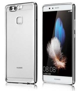 """Juodas silikoninis dėklas Huawei P10 telefonui """"Glossy"""""""
