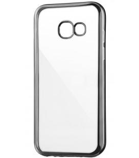 """Juodas silikoninis dėklas Samsung Galaxy A3 2017 Telefonui """"Glossy"""""""