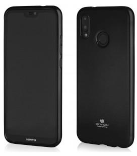 """Juodas silikoninis dėklas Huawei P20 Lite telefonui """"Mercury Goospery Pearl Jelly Case"""""""