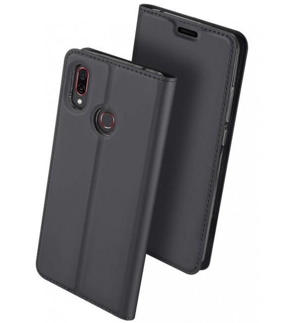 """Pilkas atverčiamas dėklas Huawei Honor Play telefonui """"Dux Ducis Skin"""""""