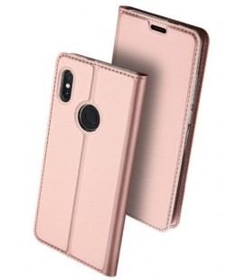 """Rausvai auksinės spalvos atverčiamas dėklas Xiaomi Redmi Note 6 Pro telefonui """"Dux Ducis Skin"""""""