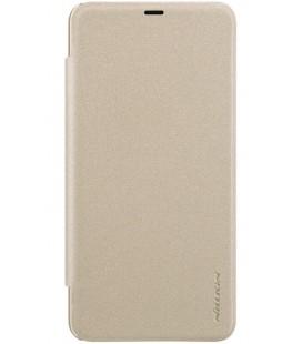 """Atverčiamas auksinės spalvos dėklas Xiaomi Pocophone F1 telefonui """"Nillkin Sparkle S-View"""""""