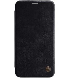 """Odinis juodas atverčiamas dėklas Apple iPhone XR telefonui """"Nillkin Qin"""""""