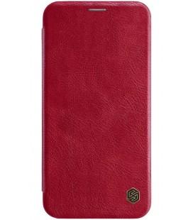 """Odinis raudonas atverčiamas dėklas Apple iPhone XS Max telefonui """"Nillkin Qin"""""""