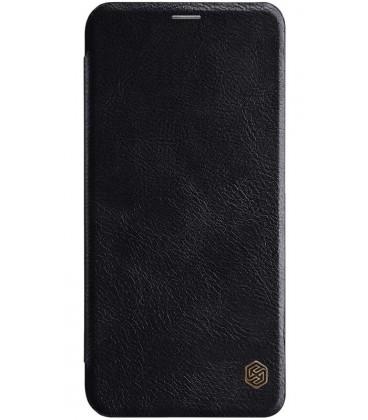 """Odinis juodas atverčiamas dėklas Huawei Mate 20 Lite telefonui """"Nillkin Qin"""""""