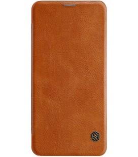 """Odinis rudas atverčiamas dėklas Xiaomi Pocophone F1 telefonui """"Nillkin Qin"""""""