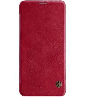 """Odinis raudonas atverčiamas dėklas Xiaomi Pocophone F1 telefonui """"Nillkin Qin"""""""