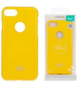 "Geltonas silikoninis dėklas Apple iPhone 7/8 telefonui ""Mercury Goospery Pearl Jelly Case"""