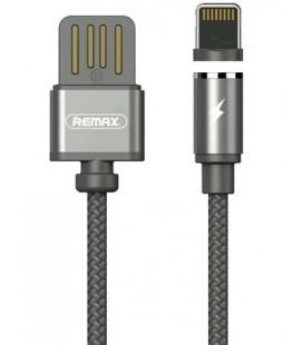 """Magnetinis juodas Lightning - USB laidas 1m """"Remax RC-095i"""""""