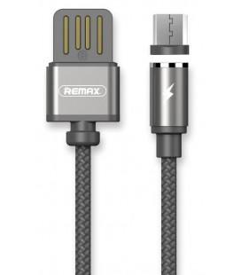 """Magnetinis juodas MicroUSB - USB laidas 1m """"Remax RC-095M"""""""