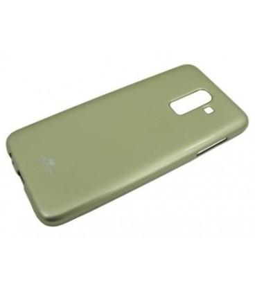 """Auksinės spalvos silikoninis dėklas Samsung Galaxy J8 2018 telefonui """"Mercury Goospery Pearl Jelly Case"""""""