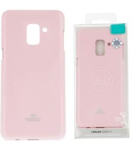 """Šviesiai rožinis silikoninis dėklas Samsung Galaxy J8 2018 telefonui """"Mercury Goospery Pearl Jelly Case"""""""