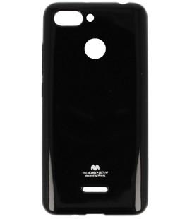 """Juodas silikoninis dėklas Xiaomi Redmi 6 telefonui """"Mercury Goospery Pearl Jelly Case"""""""