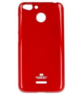 """Raudonas silikoninis dėklas Xiaomi Redmi 6 telefonui """"Mercury Goospery Pearl Jelly Case"""""""