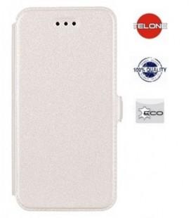 """Baltas atverčiamas dėklas Sony Xperia Z3 Compact telefonui """"Telone Book Pocket"""""""