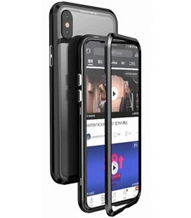 "Magnetinis metalinis juodas dėklas Apple iPhone XS Max telefonui ""Luphie Bicolor Magnetic"""