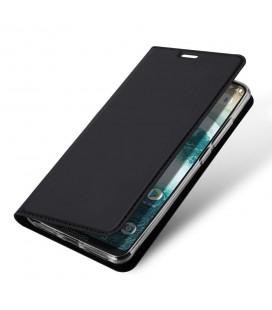 """Auksinės spalvos atverčiamas dėklas Samsung Galaxy A6 2018 telefonui """"Dux Ducis Skin"""""""