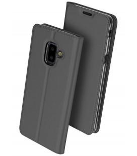 """Pilkas atverčiamas dėklas Samsung Galaxy J6 Plus 2018 telefonui """"Dux Ducis Skin"""""""