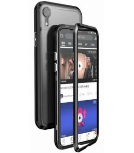 "Magnetinis metalinis juodas dėklas Apple iPhone XR telefonui ""Luphie Full Bicolor Magnetic"""