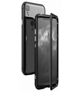 "Magnetinis metalinis juodas dėklas Apple iPhone XR telefonui ""Luphie Bicolor Magnetic"""