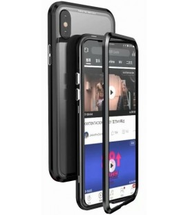 "Magnetinis metalinis juodas dėklas Apple iPhone X/XS telefonui ""Luphie Full Bicolor Magnetic"""