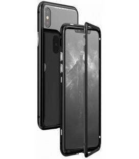 """Magnetinis metalinis juodas dėklas Apple iPhone X/XS telefonui """"Luphie Magnetic ARC"""""""