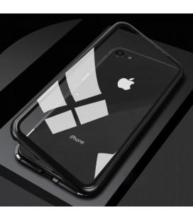"""Magnetinis metalinis juodas dėklas Apple iPhone 7/8 telefonui """"Luphie Magnetic ARC"""""""