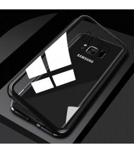 """Magnetinis metalinis juodas dėklas Samsung Galaxy S8 telefonui """"Luphie Magnetic ARC"""""""