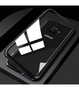 """Magnetinis metalinis juodas dėklas Samsung Galaxy S9 telefonui """"Luphie Magnetic ARC"""""""