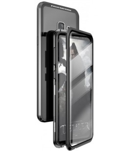 """Magnetinis metalinis juodas dėklas Samsung Galaxy S9 Plus telefonui """"Luphie Bicolor Magnetic"""""""