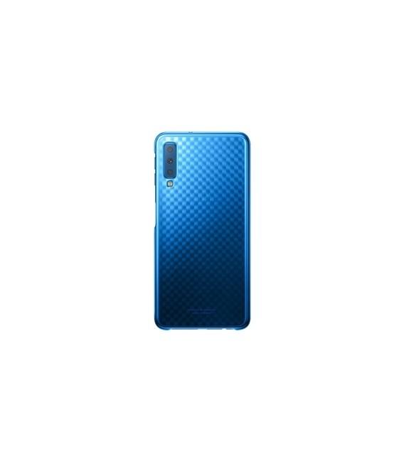 "Originalus mėlynas dėklas ""Gradation Cover"" Samsung Galaxy A7 2018 telefonui ""EF-AA750CLE"""