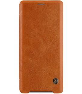 """Odinis rudas atverčiamas dėklas Sony Xperia XZ3 telefonui """"Nillkin Qin"""""""