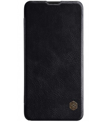 """Odinis juodas atverčiamas dėklas Oneplus 6T telefonui """"Nillkin Qin"""""""