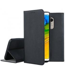 """Juodas atverčiamas dėklas Xiaomi Redmi 5 telefonui """"Smart Book Magnet"""""""
