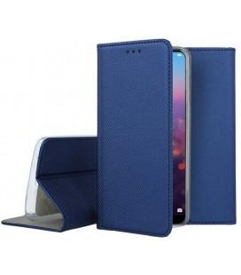 """Mėlynas atverčiamas dėklas Huawei P20 telefonui """"Smart Book Magnet"""""""