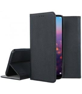 """Juodas atverčiamas dėklas Huawei P20 telefonui """"Smart Book Magnet"""""""