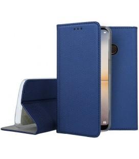 """Mėlynas atverčiamas dėklas Huawei P20 Lite telefonui """"Smart Book Magnet"""""""