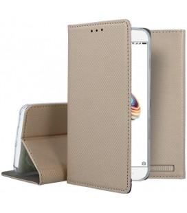 """Auksinės spalvos atverčiamas dėklas Xiaomi Redmi 5A telefonui """"Smart Book Magnet"""""""