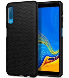 "Juodas dėklas Samsung Galaxy A7 2018 telefonui ""Spigen Liquid Air"""