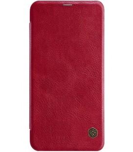 """Odinis raudonas atverčiamas dėklas Xiaomi Redmi Note 6 Pro telefonui """"Nillkin Qin"""""""