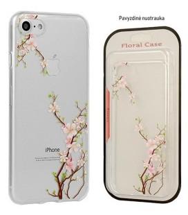"""Skaidrus dėklas Samsung Galaxy A8 Plus 2018 telefonui """"Floral Case Cherry"""""""